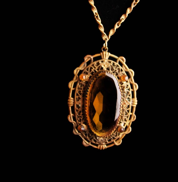 Antique Czech necklace - Victorian snake design -