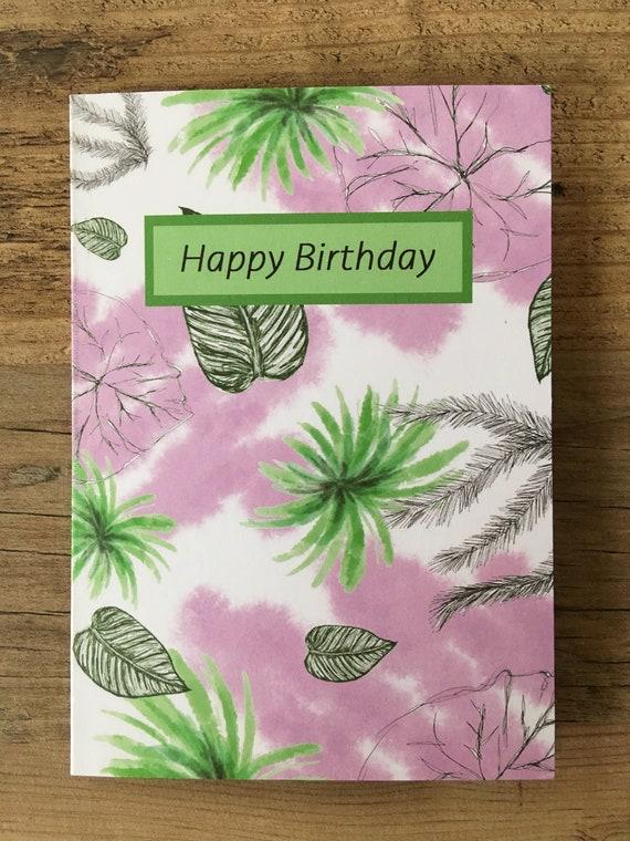 Joyeux Anniversaire Cartes De Voeux Plantes Nature Eden Projet Etsy