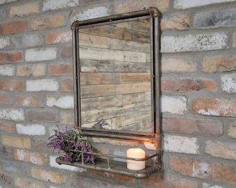 Rustic Mirror Shelf Etsy