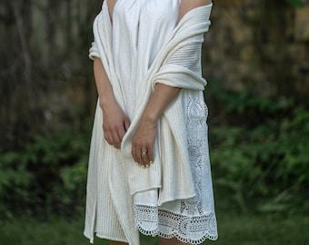 Bridal cover up, lace wedding top, bridal shoulder wrap, kashmiri shawl, cashmere wedding blanket scarf, bridesmaid wrap top