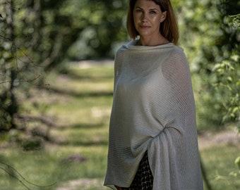 White pashmina bridal lace top, cashmere poncho scarf, bridal cover up, weding cape shawl, shawl for shoulder, kashmiri top