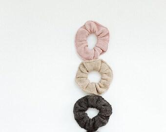 Zero waste kit, set of two scrunchie set, hair scrunchies, two piece set hair band, zero waste gift