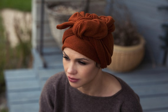 Cashmere African Head Wrap Boho Style Turban Hat Etsy
