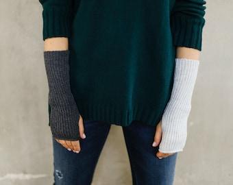 Arm warmers womens, wrist warmers, cashmere long gloves, merino wool fingerless gloves, half finger gloves