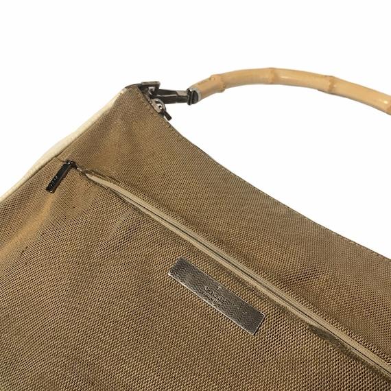 GUCCI Vintage Bamboo Handle Shoulder Bag - image 3