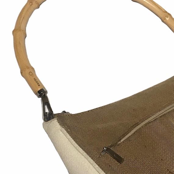 GUCCI Vintage Bamboo Handle Shoulder Bag - image 4