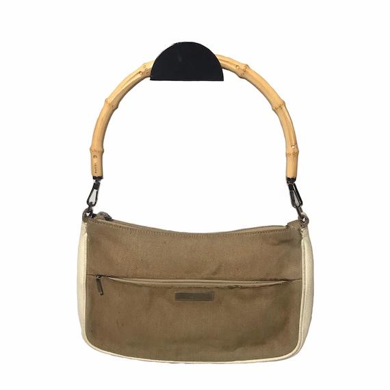 GUCCI Vintage Bamboo Handle Shoulder Bag - image 2