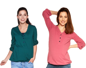 2in1 Maternity shirt with still function still shirt still fashion maternity fashion Maternity fashion Pregnancy fashion Model: FLORA by be mama!