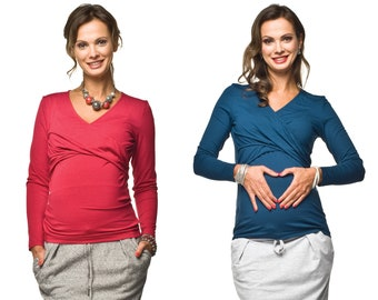 2in1 Maternity shirt with still function still shirt Stillmode Maternity fashion Maternity fashion Pregnancy fashion Model: LEA by Torelle