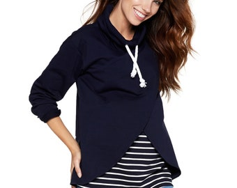 Nursing sweater Maternity sweater Stillshirt Maternity fashion Stillmode Sweatshirt Model: LAVRENCE be mama!