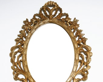 ornate hand mirror. Hand-Carved Gold Ornate Louis XV French Rococo Mirror Ornate Hand Mirror O