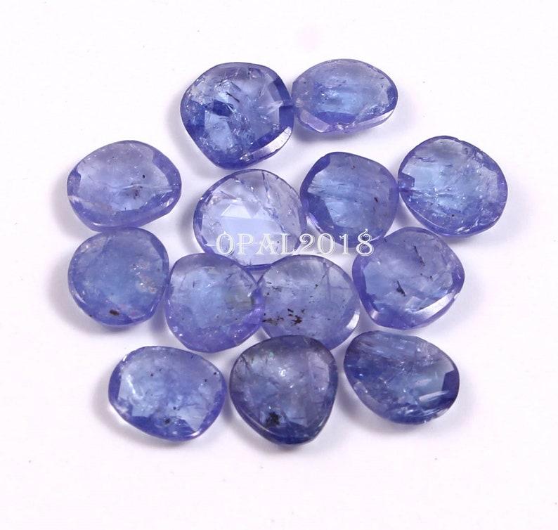 Beautiful Cut Stone.,-#Tz-14 2.75 Cts pair 6\u00d78MM Pair Natural Tanzanite Cut Stone,AA+ Cushion