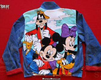 80s Vintage Mickey Mouse Disneyland Cartoon Leather Denim | Etsy