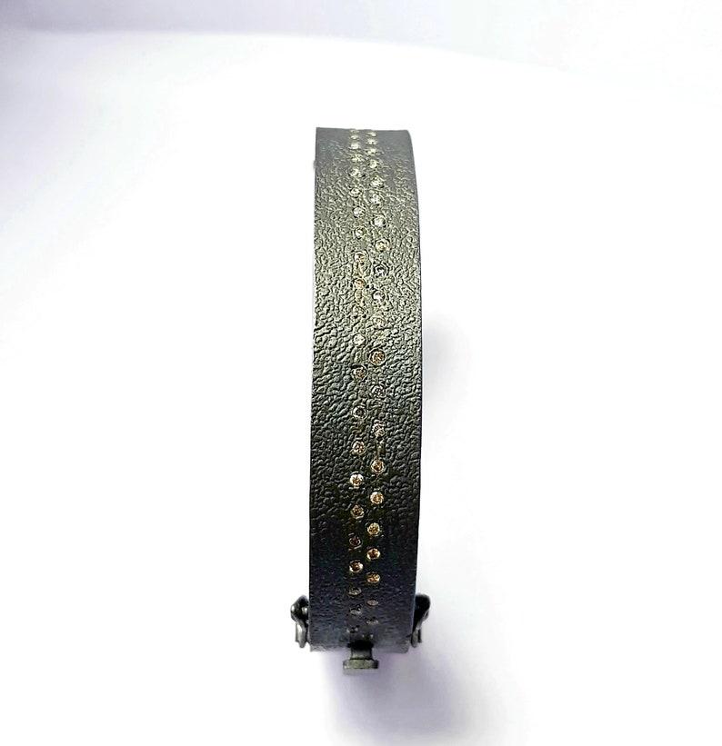 Uniqe handmade Rocecut pave diamond bangle 925 sterling silver rough frostik finish