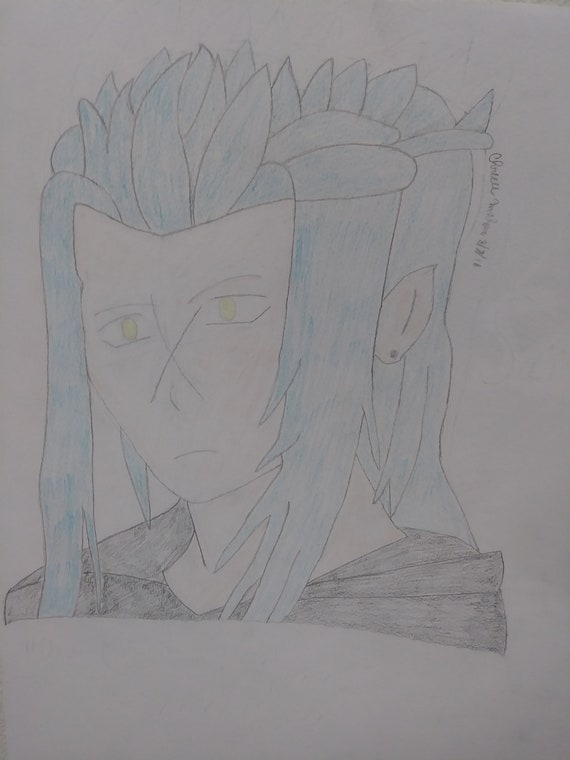 Saix Kingdom Hearts Inspired Original Drawing Etsy
