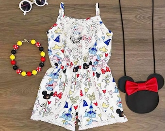 dd5e117252 Girls Magical Mouse Romper   Disney Outfit   Minnie Mouse Outfit