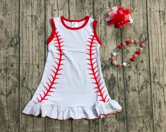 26cb4d55e81 Girls Baseball Dress