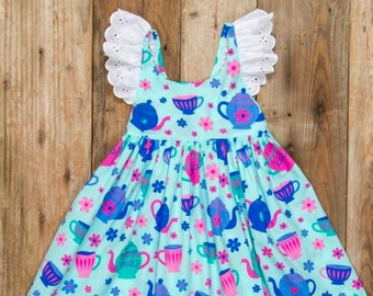 bd33681c9 Girls Tea Party Dress | Girls Tea Dress | Girls Mother's Day Dress