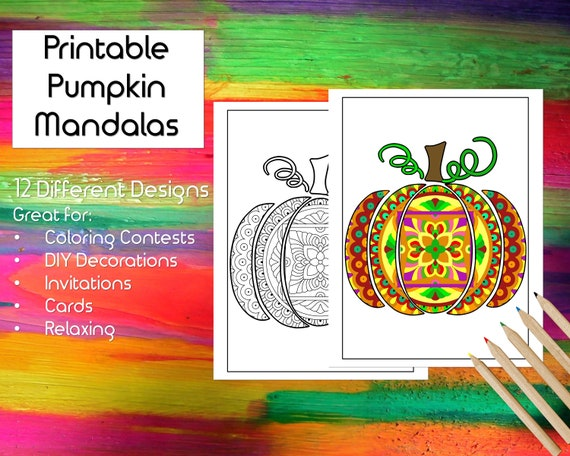 Printable Pumpkin Mandala Coloring Pages for all ages