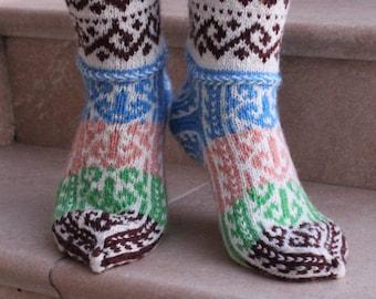 6e8c844bca4 Handmade Winter socks for women Cute color handmade socks for her Winter  warm socks for Mothers day gift Handmade woolen socks gift for her