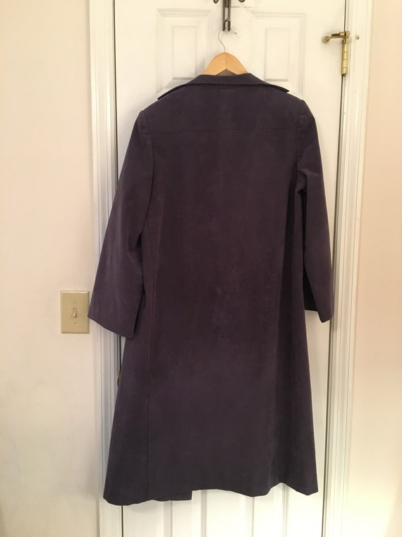 A Trigere Coat by Pauline Trigere Suede Lavender … - image 5