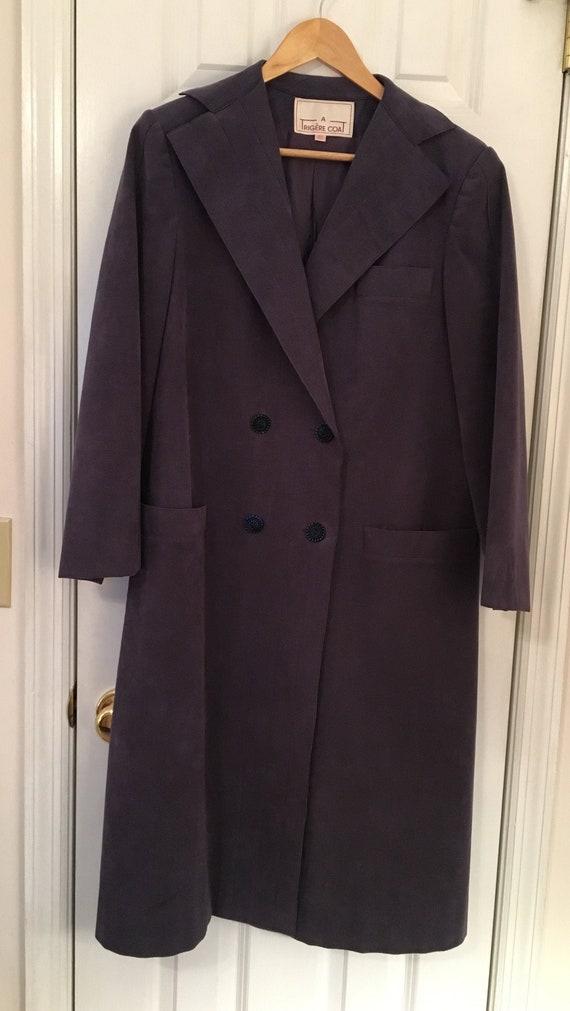 A Trigere Coat by Pauline Trigere Suede Lavender … - image 1
