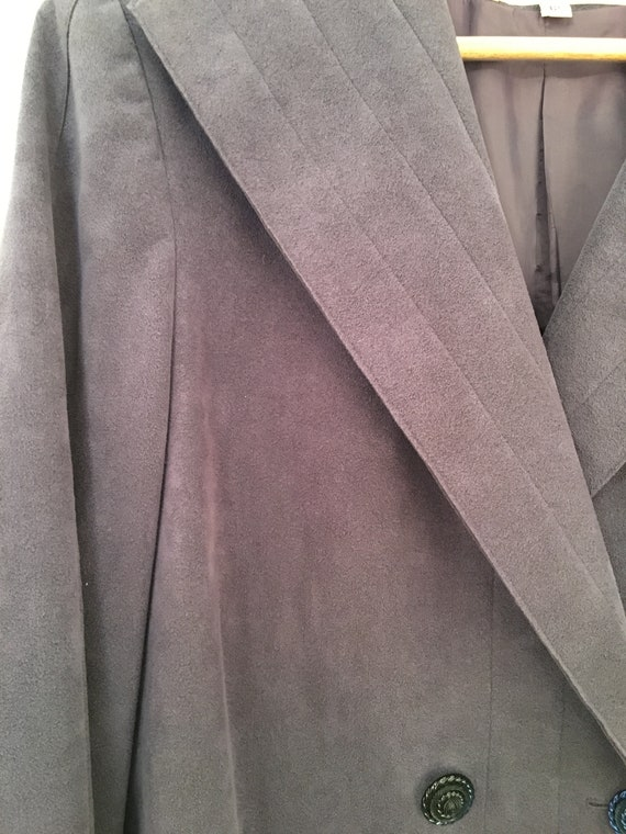 A Trigere Coat by Pauline Trigere Suede Lavender … - image 3