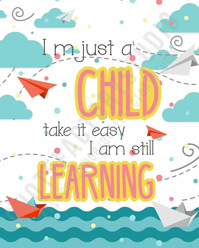 Learn Education Kids Quotes Children Inspirational Sign | Etsy