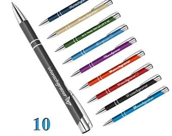 Metal ballpoint pen Oleg with engraving
