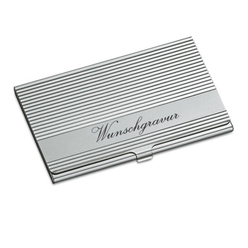 Visitenkarten-Etui aus Metall poliert inkl Gravur