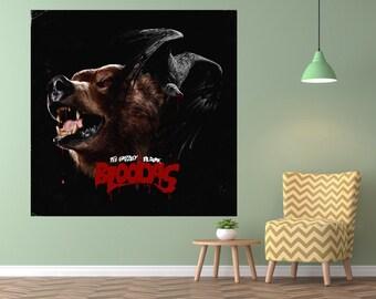 "Tee Grizzley Activated Poster 2018 Album Art Print 12x12/"" 24x24/"" 32x32/"""
