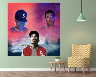 Chance The Rapper Acidrap 10 Day Coloring Book Poster Album Cover Music Art Silk Print Home Decor