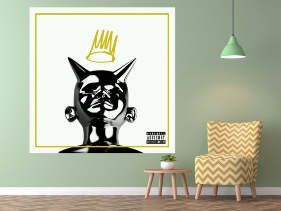 J Cole Born Sinner Deluxe Edition Poster Poster Music Album Etsy
