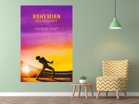 Bohemian Rhapsody Movie Poster Rami Malek Queen Film Art Silk Etsy