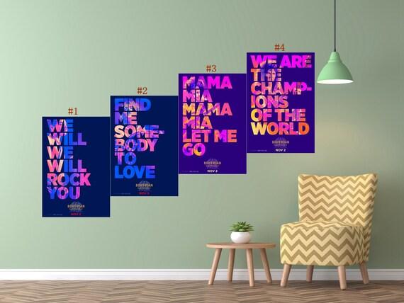 Bohemian Rhapsody Movie Poster Rami Malek Film Art Silk Print Etsy