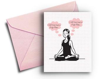 Yoga Birthday Card