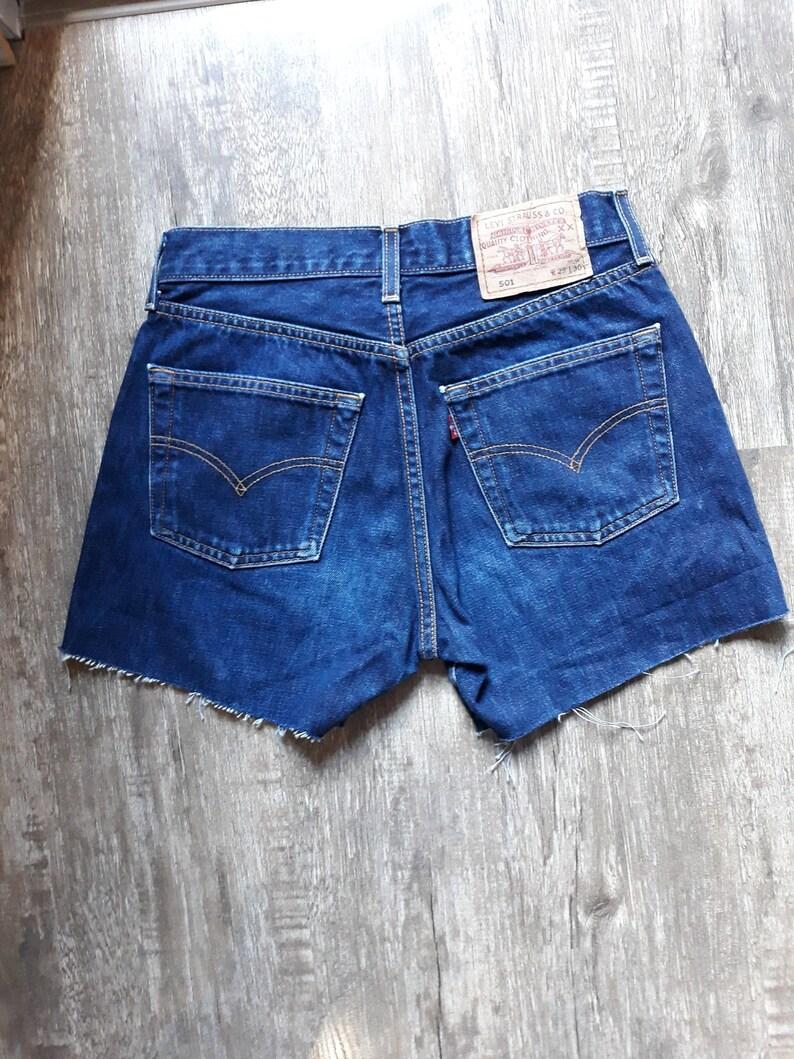 vintage levi 501 high waisted shorts