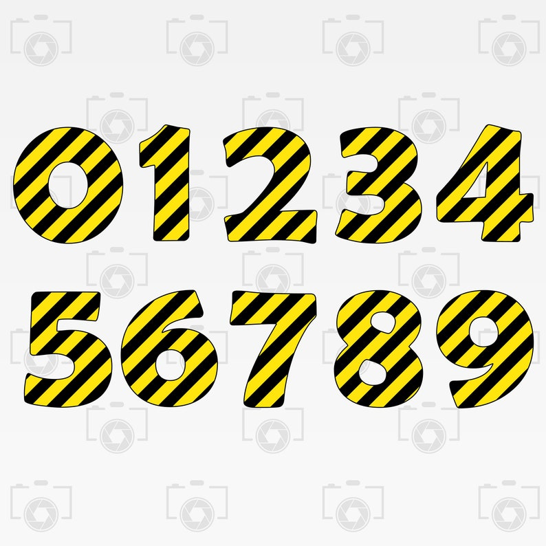 png Instant files download svg Print or more Construction Numbers Digital clipart for Design Cut files Construction Numbers svg dxf