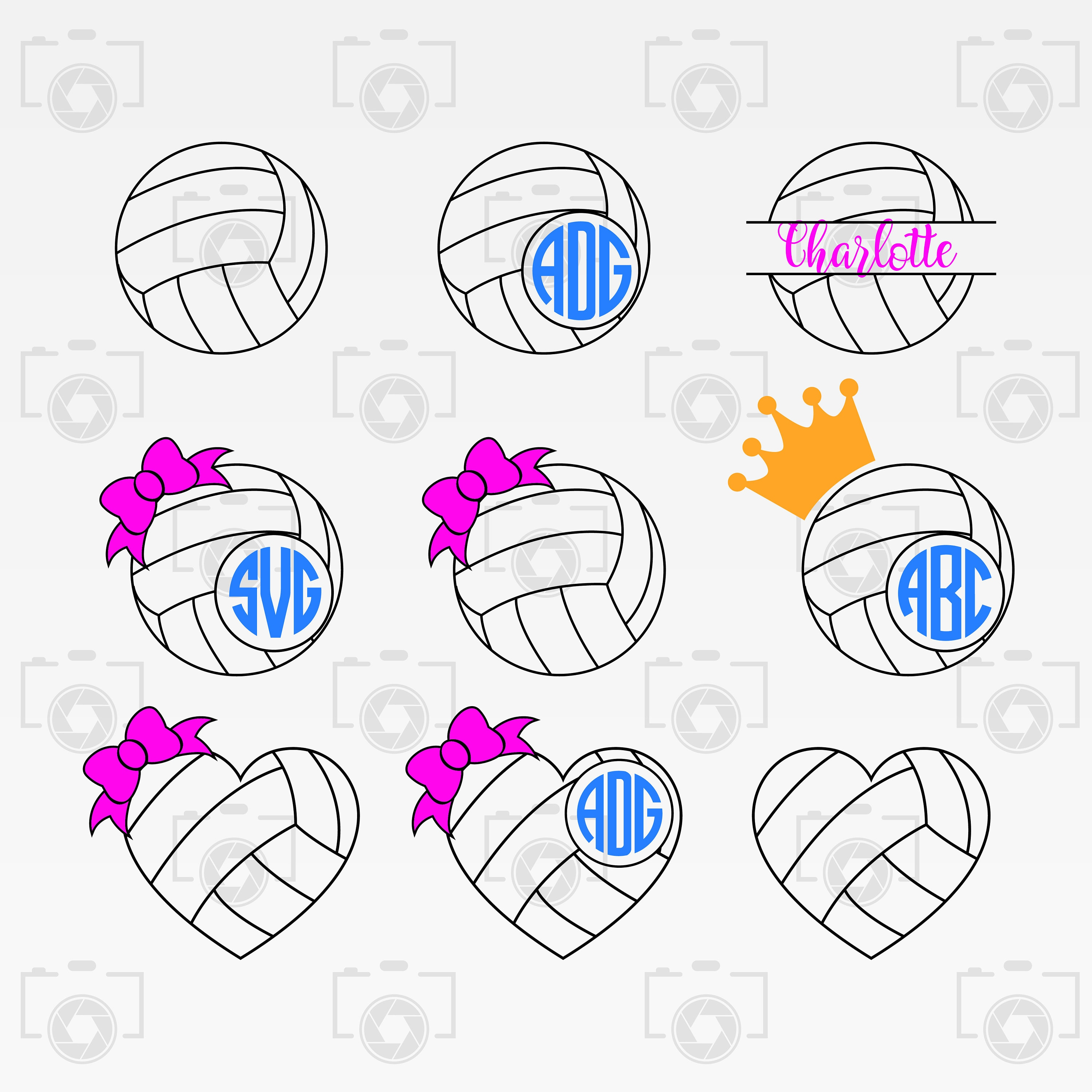 Instant Files Download Svg Cut Files Print Or More Dxf Volleyball Numbers Digital Clipart For Design Png Volleyball Numbers Svg Craft Supplies Tools Paper Party Kids