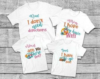 d9a903d5561a Personalized funny matching family vacation shirts, Cotton, Mom Dad Kids family  t-shirts, Matching Family Outfit, UNISEX, Price per item