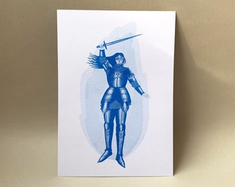 A5 Joan of Arc Risograph Print