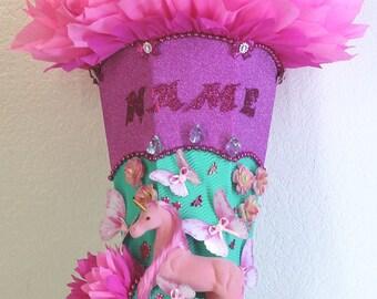 Schultüte Zuckertüte SCHMETTERLINGSFEE Rohling75cm rosa pink weiß HANDARBEIT