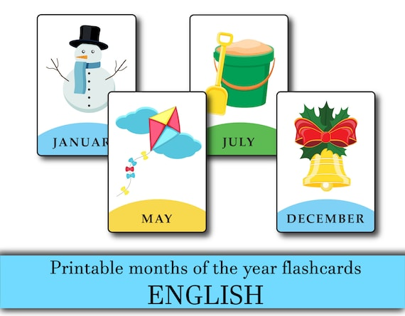 It is a photo of Printable Months of the Year in worksheet