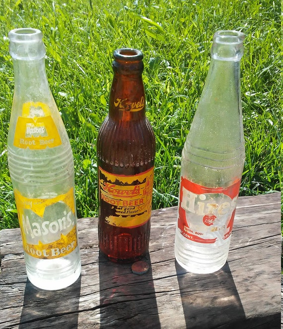vintage root beer bottle collection etsy