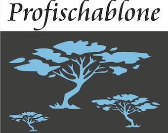 Wand schablone baum etsy - Schablone wandmalerei ...