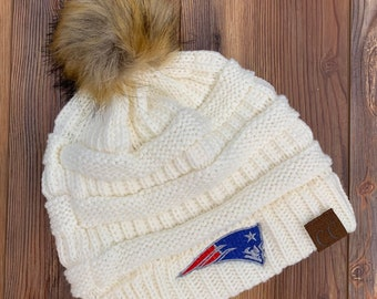 New England Patriots CC knitted Pom Pom Hat  fe5eb3232