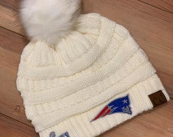 35b084cdb2b New England Patriots Super Bowl Champs CC knitted Pom Pom Hat