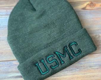 19763752528 USMC Marine Corps Thin Line Flag design men s beanie winter hat