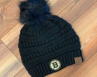 d63bde66454 Boston Bruins CC knitted pom pom hat