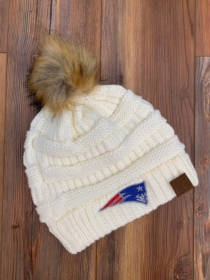 6ae8817d New England Patriots CC knitted Pom Pom Hat , winter hat, Patriots Winter  Hat